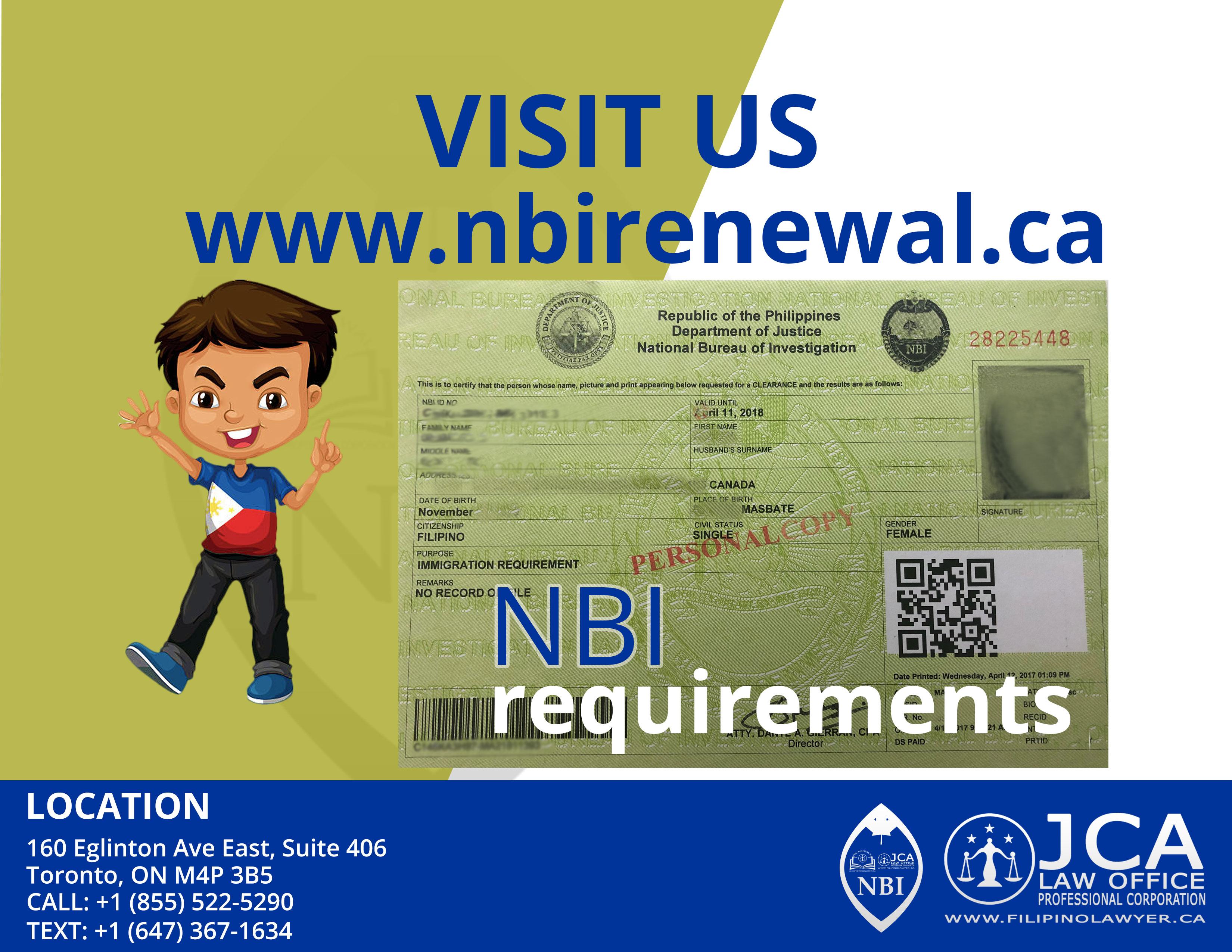 When do I need to get an NBI Clearance in Canada? - NBI